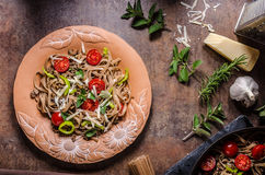 Whole grain pasta with cheese Stock Photography