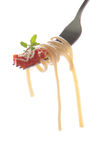 Whole Grain Pasta on fork Royalty Free Stock Photography