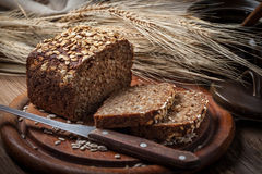 Whole Grain rye bread with seeds. Royalty Free Stock Photo