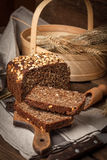 Whole Grain rye bread with seeds. Stock Image