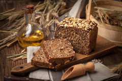 Whole Grain rye bread with seeds. Royalty Free Stock Image