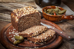 Whole Grain rye bread with seeds. Stock Images