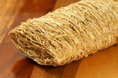 Whole grain shredded wheat biscuit Royalty Free Stock Image