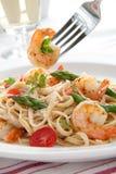 Whole Grain Shrimp Pasta Royalty Free Stock Photos