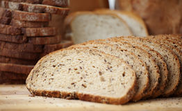 Whole grain Sliced bread Royalty Free Stock Image