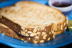 Whole grain toast. Stock Photos