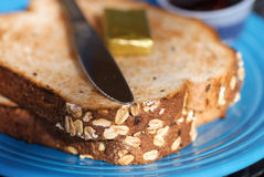 Whole grain toast. Royalty Free Stock Image