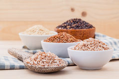 Whole Grain Traditional Thai Rice Best Rice For Healthy And Clean Food. Stock Photography