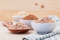 Whole grain Traditional Thai rice best rice for healthy and clean food Royalty Free Stock Photos