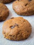 Whole grain vegan pumpkin cookies Royalty Free Stock Photo