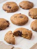 Whole grain vegan pumpkin cookies Stock Photos