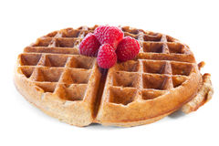 Whole grain waffle Stock Photo