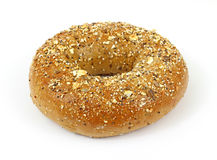 Whole grain wheat bagel Royalty Free Stock Photo