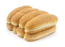 Whole grain wheat hot dog buns Stock Images