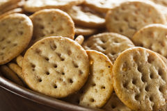 Whole Grain Wheat Round Crackers Royalty Free Stock Photo