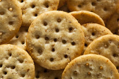 Whole Grain Wheat Round Crackers Stock Photography
