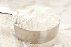 Whole grain white flour Stock Photos