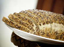 Whole grains bread. A loft of whole grains bread Royalty Free Stock Photo