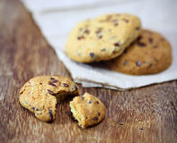 Whole grains cookies on paper Royalty Free Stock Images
