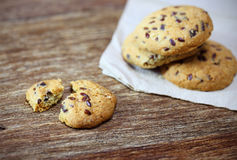 Whole grains cookies on paper Royalty Free Stock Photography