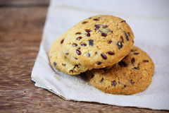 Whole grains cookies on paper Royalty Free Stock Photo