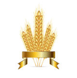 Whole grains and golden ribbon  Royalty Free Stock Image