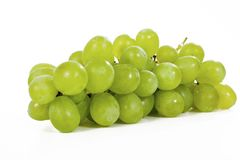 Whole grape grapes On isolated white studio background. Clipping path. Single object on white background. Royalty Free Stock Photography
