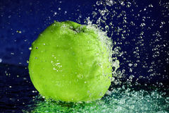 Whole green apple Stock Image