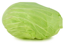Whole green cabbage isolated on white Stock Image
