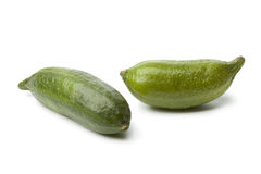 Whole green  lime fingers Stock Images