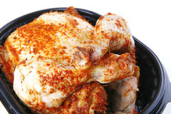 Whole grilled chicken Royalty Free Stock Images