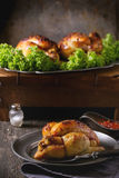 Whole Grilled mini chicken Stock Photography