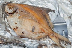 Whole Grilled Pompano Royalty Free Stock Image