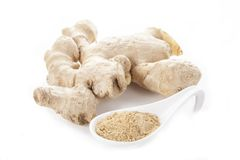 Whole and ground ginger Stock Photography