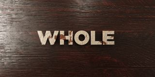 Whole - grungy wooden headline on Maple - 3D rendered royalty free stock image. This image can be used for an online website banner ad or a print postcard stock illustration