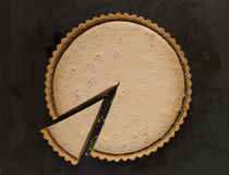 Whole Gypsy Tart with a Slice Royalty Free Stock Photo