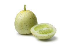 Whole and half Apple cucumber Stock Photography