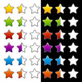 Whole half and blank rating stars. See also my gallery Royalty Free Stock Photography