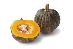 Whole and half butter pumpkin Stock Images