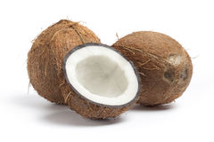 Whole and half coconut Royalty Free Stock Image