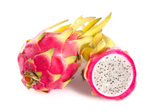 Whole and a half dragon fruit Royalty Free Stock Image