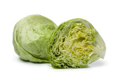Whole and half Iceberg lettuce Stock Image