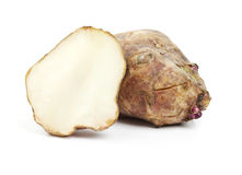 Whole and half Jerusalem artichoke Royalty Free Stock Photo