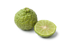 Whole and half Kaffir lime Royalty Free Stock Photos