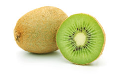 Whole and half kiwi Royalty Free Stock Photo