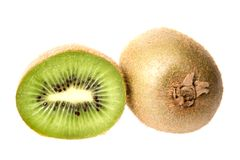 Whole and Half Kiwi Fruit Stock Photography