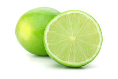 Whole and half lime Royalty Free Stock Photography