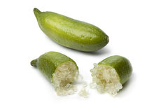 Whole and half lime fingers Stock Images