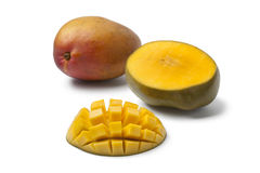 Whole and half Mango Royalty Free Stock Photography