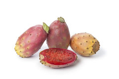 Whole and half prickly pears Stock Image